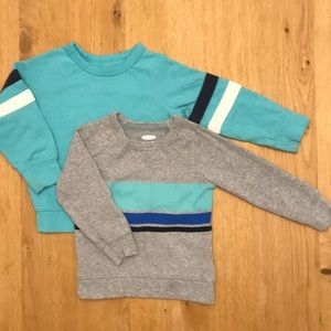 2 lightweight toddler boy sweaters